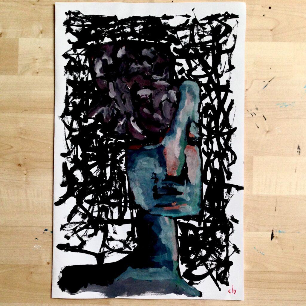 Dave Woltering schilderij